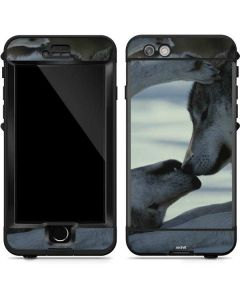 Two Gray Wolves Touch Noses LifeProof Nuud iPhone Skin