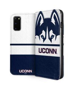 UCONN Huskies Galaxy S20 Folio Case