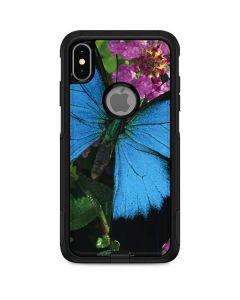 Ulysses Butterfly Lands On Pink Flowers Otterbox Commuter iPhone Skin