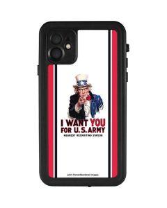 Uncle Sam Vintage War Poster iPhone 11 Waterproof Case