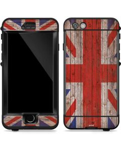 United Kingdom Flag Dark Wood LifeProof Nuud iPhone Skin