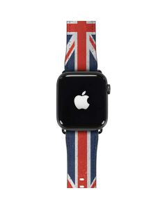 United Kingdom Flag Distressed Apple Watch Band 42-44mm