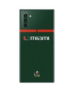 University of Miami Hurricanes Galaxy Note 10 Skin