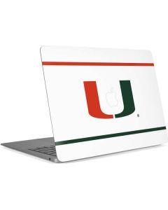 University of Miami White Split Apple MacBook Air Skin