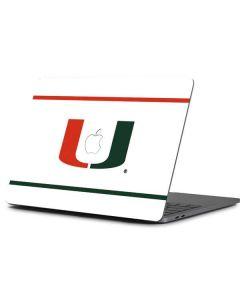 University of Miami White Split Apple MacBook Pro 13-inch Skin