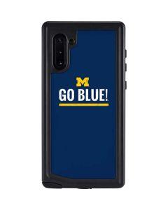 University of Michigan Go Blue Galaxy Note 10 Waterproof Case