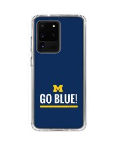 University of Michigan Go Blue Galaxy S20 Ultra 5G Clear Case