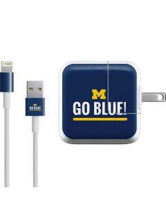 University of Michigan Go Blue iPad Charger (10W USB) Skin