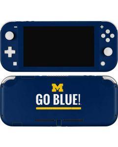 University of Michigan Go Blue Nintendo Switch Lite Skin