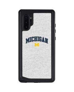 University of Michigan Heather Grey Galaxy Note 10 Plus Waterproof Case