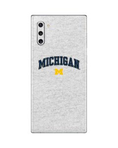 University of Michigan Heather Grey Galaxy Note 10 Skin
