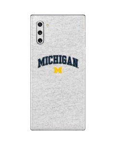 University of Michigan Heather Grey Galaxy Note 10 Skin