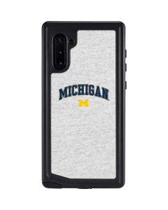 University of Michigan Heather Grey Galaxy Note 10 Waterproof Case