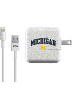 University of Michigan Heather Grey iPad Charger (10W USB) Skin