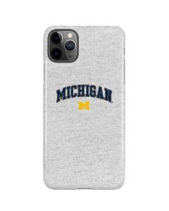 University of Michigan Heather Grey iPhone 11 Pro Max Lite Case