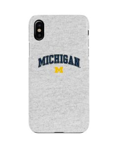 University of Michigan Heather Grey iPhone XS Max Lite Case