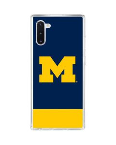 University of Michigan Logo Galaxy Note 10 Clear Case