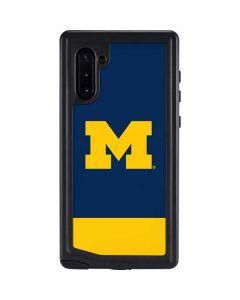 University of Michigan Logo Galaxy Note 10 Waterproof Case
