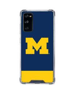 University of Michigan Logo Galaxy S20 FE Clear Case