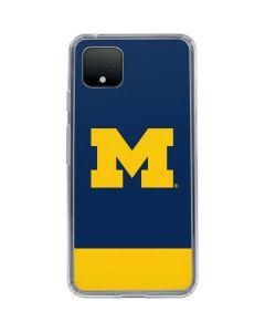 University of Michigan Logo Google Pixel 4 XL Clear Case