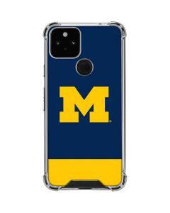 University of Michigan Logo Google Pixel 5 Clear Case