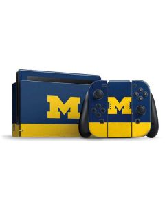 University of Michigan Logo Nintendo Switch Bundle Skin