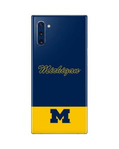 University of Michigan Split Galaxy Note 10 Skin