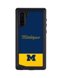 University of Michigan Split Galaxy Note 10 Waterproof Case