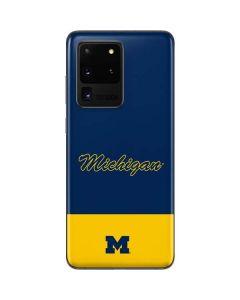 University of Michigan Split Galaxy S20 Ultra 5G Skin