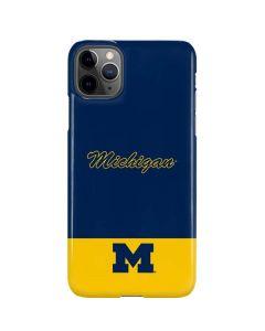 University of Michigan Split iPhone 11 Pro Max Lite Case