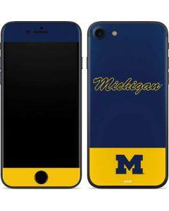 University of Michigan Split iPhone SE Skin