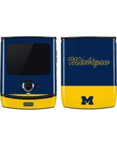 University of Michigan Split Motorola RAZR Skin