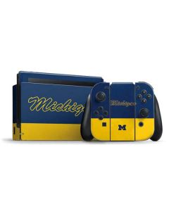 University of Michigan Split Nintendo Switch Bundle Skin