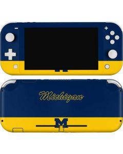 University of Michigan Split Nintendo Switch Lite Skin