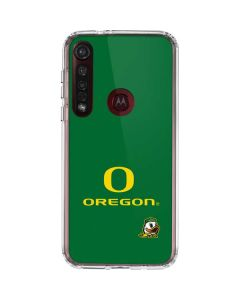 University of Oregon Moto G8 Plus Clear Case