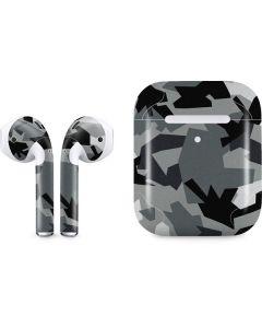 Urban Camouflage Black Apple AirPods 2 Skin