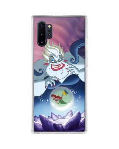 Ursula Ariel and Flounder Galaxy Note 10 Plus Clear Case