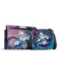 Ursula Ariel and Flounder Nintendo Switch Bundle Skin