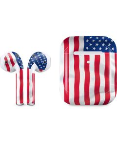 USA Flag Apple AirPods 2 Skin