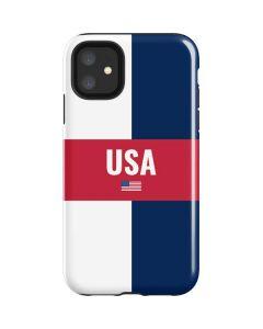 USA Flag Color Block iPhone 11 Impact Case