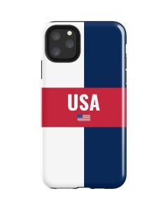 USA Flag Color Block iPhone 11 Pro Max Impact Case
