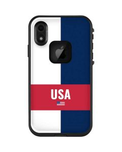 USA Flag Color Block LifeProof Fre iPhone Skin