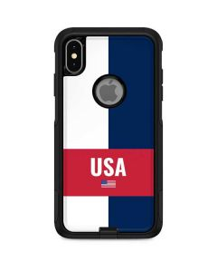 USA Flag Color Block Otterbox Commuter iPhone Skin