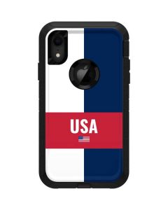 USA Flag Color Block Otterbox Defender iPhone Skin