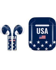 USA Flag Stars Apple AirPods Skin