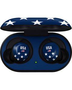 USA Flag Stars Galaxy Buds Skin