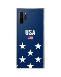 USA Flag Stars Galaxy Note 10 Plus Clear Case