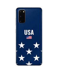 USA Flag Stars Galaxy S20 Skin