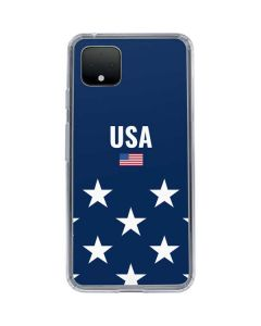 USA Flag Stars Google Pixel 4 Clear Case