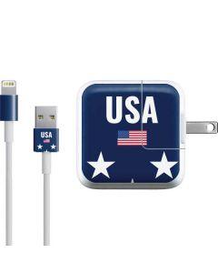 USA Flag Stars iPad Charger (10W USB) Skin